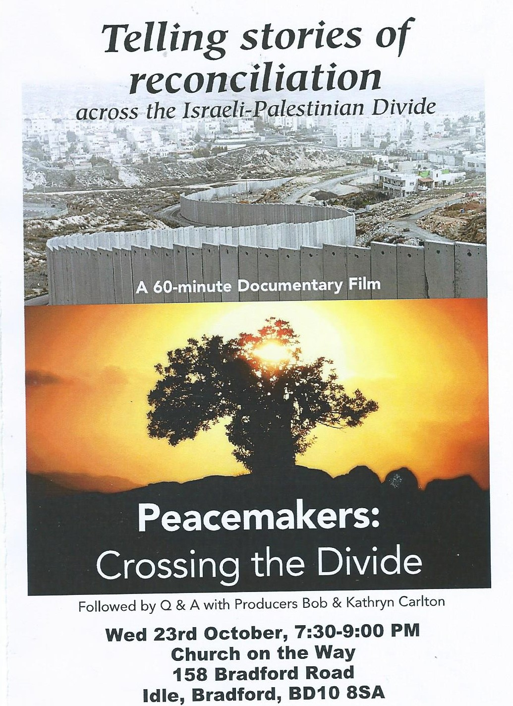 FILM NIGHT: 'The Peacemakers' - Across the Israeli-Palestinian Divide